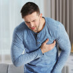 Man having a heart attack at home...