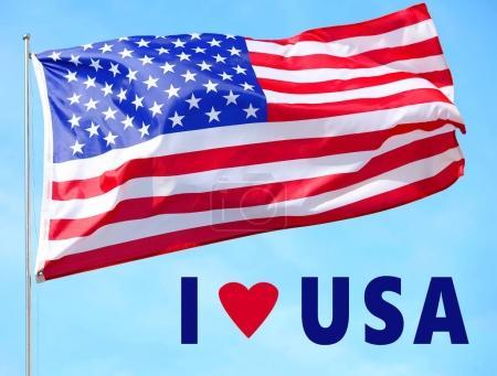 Text I LOVE USA