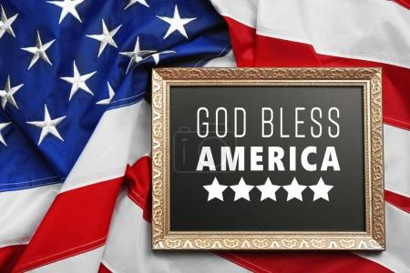 Frame with text GOD BLESS AMERICA