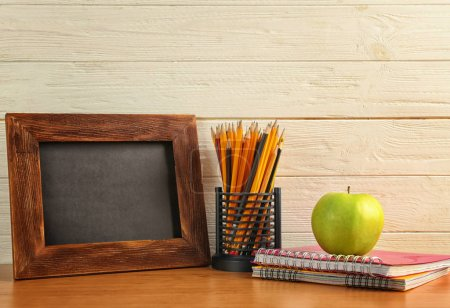 Small blackboard with stationery