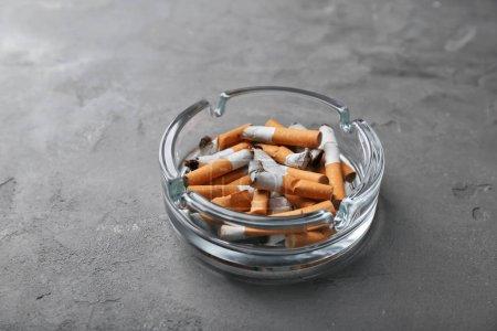 Cigarette butts close up
