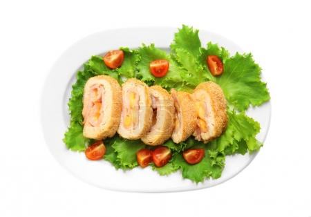tasty chicken sliced roll