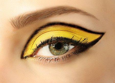 Creative makeup with eyeliner