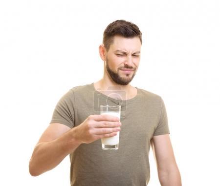 Man with milk allergy