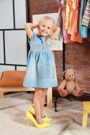 Cute girl in dressing room
