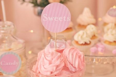 Beautiful  table with sweets