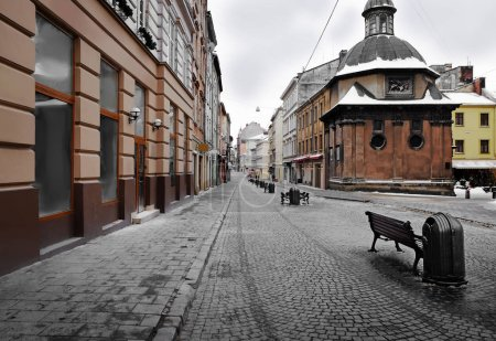 Photo pour Beau paysage urbain du centre dans la vieille ville - image libre de droit