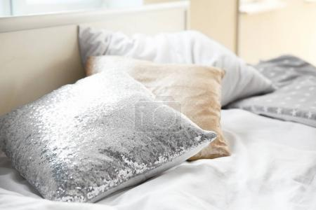 Shiny pillows with sequins