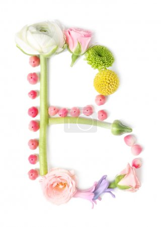 Letter made of flowers