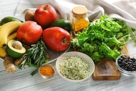Set of healthy products