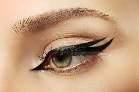 Beautiful makeup with eyeliner