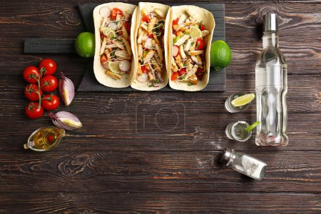 chicken tacos with tequila