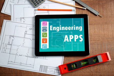Engineering apps concept.