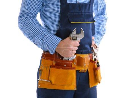 Plumber in blue uniform