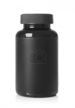 Black plastic bottle