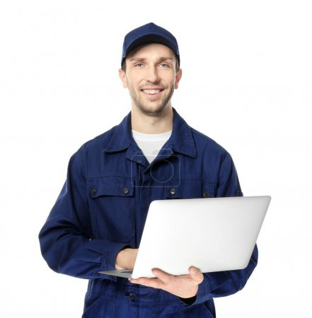 Handsome auto mechanic