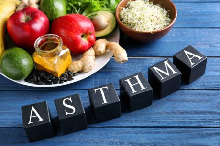 Fresh products. Asthma concept
