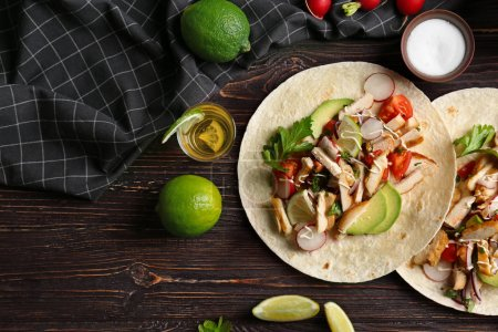 taco with tequila lime chicken