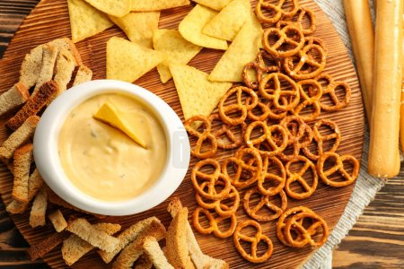 Bowl with beer cheese dip