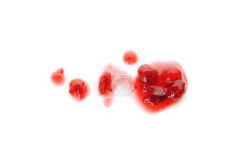Cranberry sauce splatter
