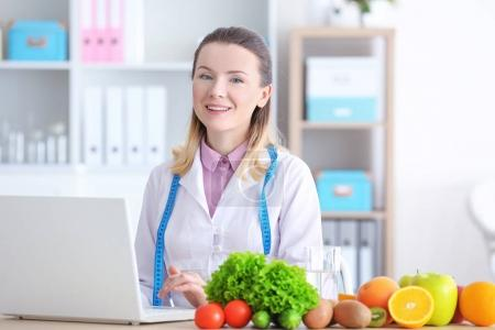 Young female nutritionist