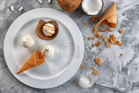 composition of ice cream balls
