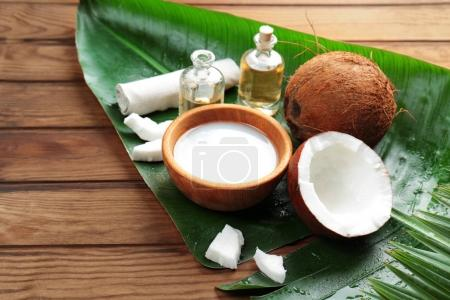 Spa composition with coconut