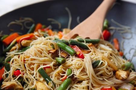 rice noodle with vegetables