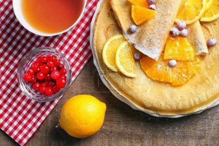 Fresh delicious pancakes
