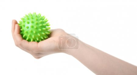 Female hand with stress ball