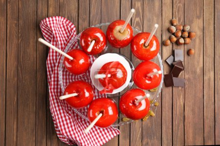 Delicious toffee apples
