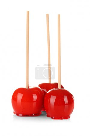 Candy apples on white