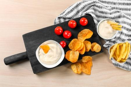 Composition with tasty mayonnaise sauce