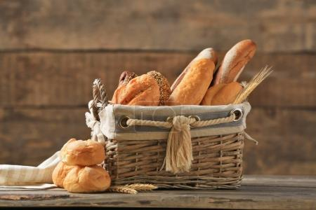 different types of fresh bread