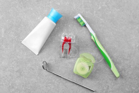 dental mirror and set for teeth cleaning