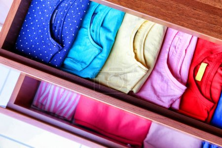 multicolored kid's clothes