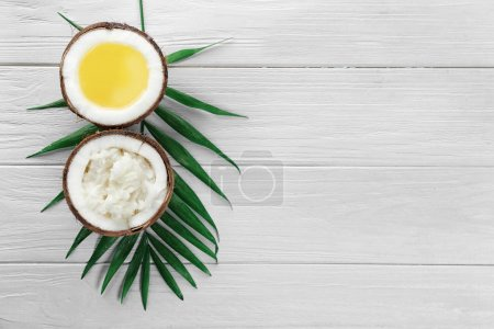 Composition with coconut products
