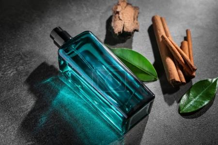 Botle of modern male perfume