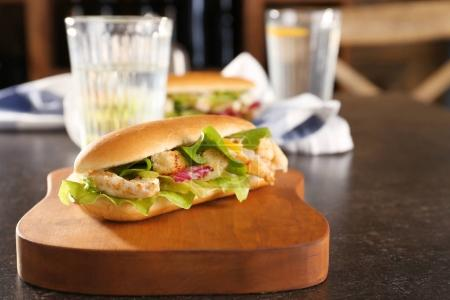 chicken salad in hot dog bun
