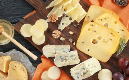 Composition with variety of cheese