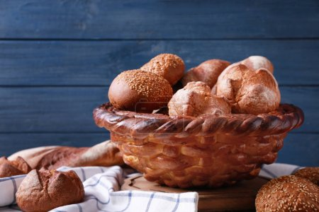 Beautiful composition with variety of bread