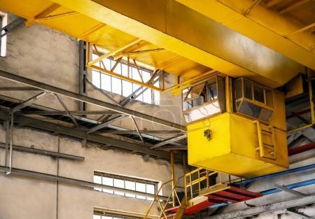 Overhead crane in factory