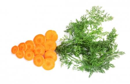 Composition with cut carrot