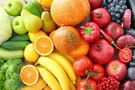Photo for View of delicious ripe fruits and vegetables - Royalty Free Image