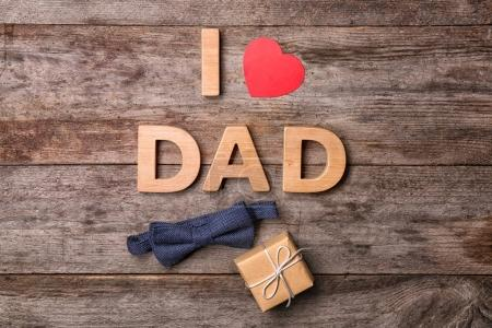 Father's Day on wooden background