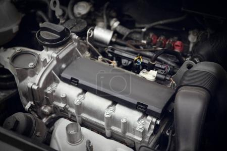 Closeup view of car engine. Auto mechanic service