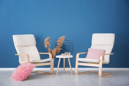 Photo for Living room interior with comfortable armchairs - Royalty Free Image