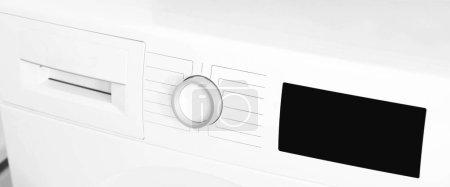 Washing machine control panel, closeup