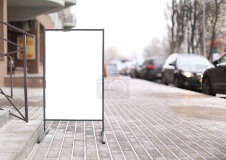 Advertising board on street
