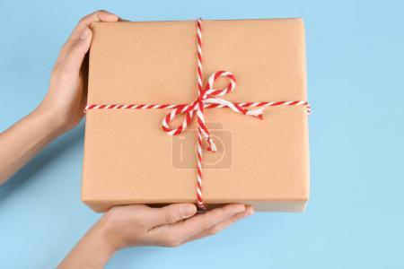 Woman holding parcel